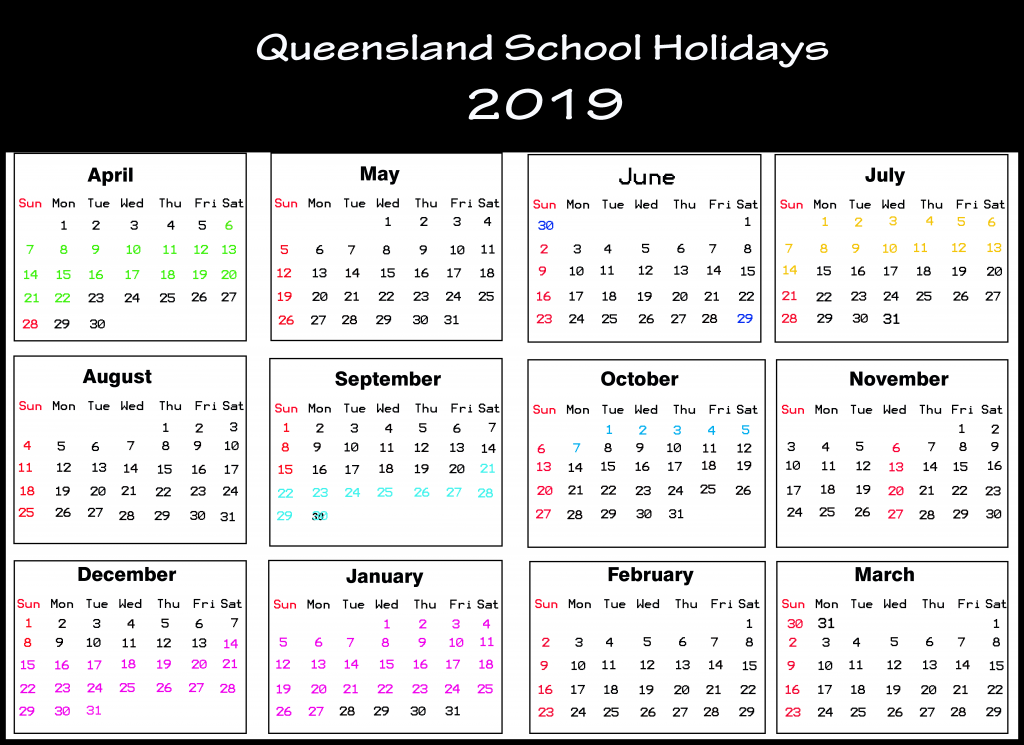 QLD School Holidays 2019